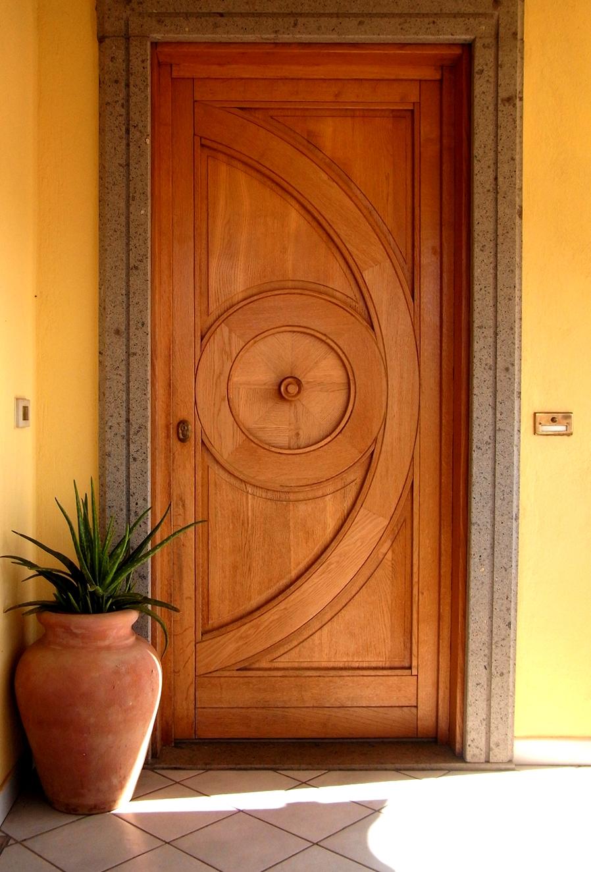 Portone in legno di Rovere naturale e particolare