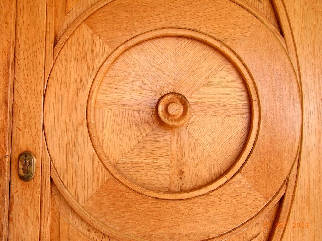 Portone in legno di Rovere naturale e particolare - particolare